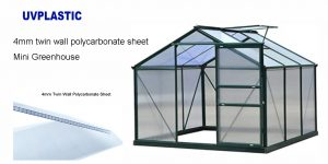 4mm twin wall polycarbonate sheet for mini greenhouse