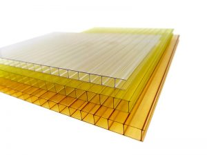 Colored double wall polycarbonate sheet