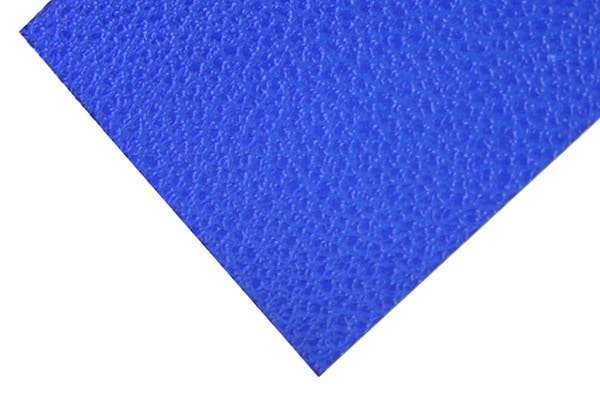 Blue embossed polycarbonate sheet