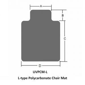 L-type Polycarbonate Chair Mat