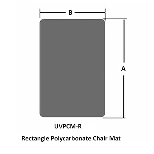 Rectangle Office Chair Mat