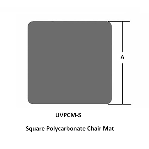 Square Polycarbonate Chair Mat