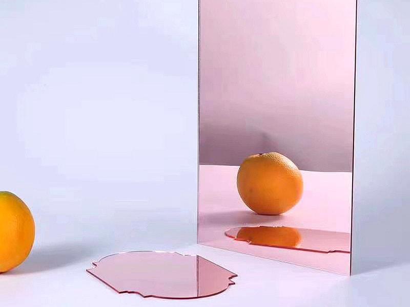 Pink plexiglass Mirror