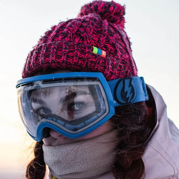 Plastic snow goggles visor