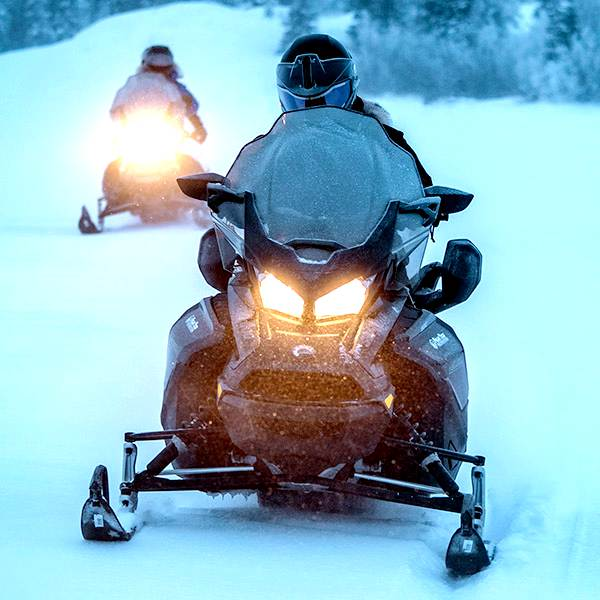 Plastic snowmobile shield