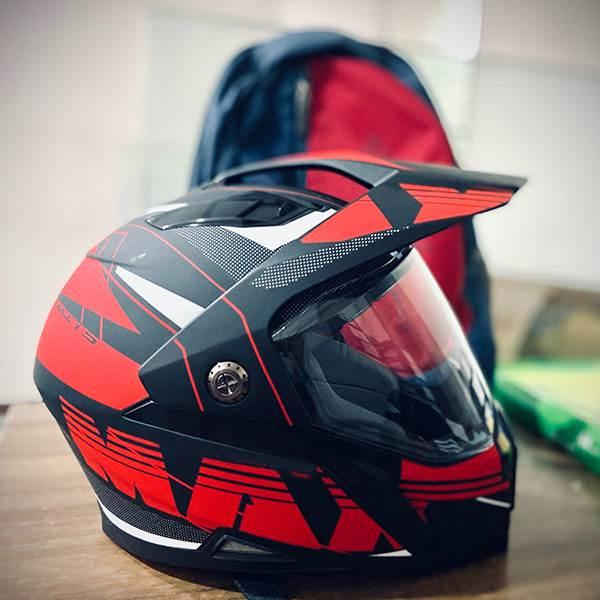 Plastic motorcycle helmet