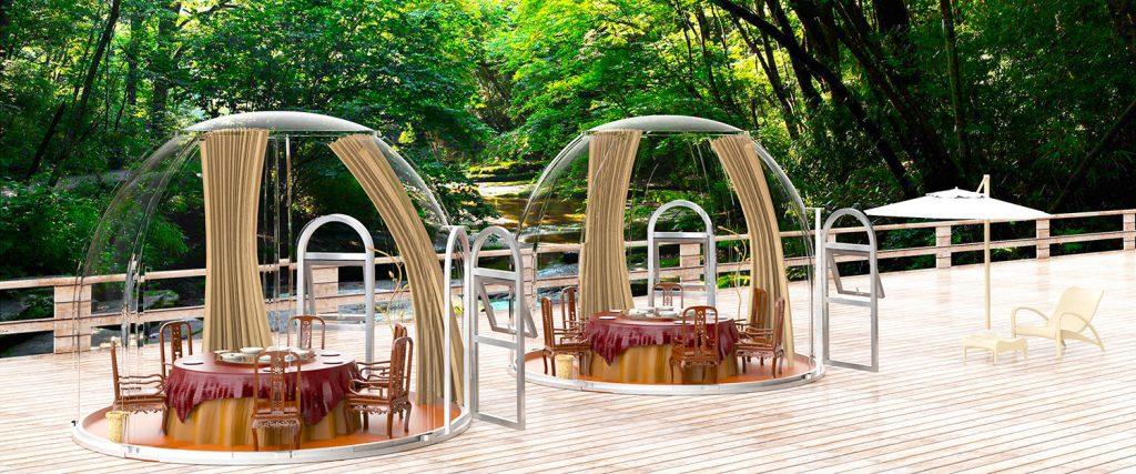 Clear PLASTIC Bubble Tent