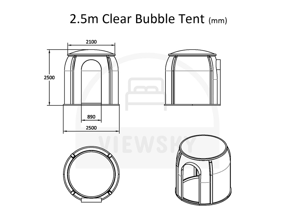 VIEWSKY clear bubble tent