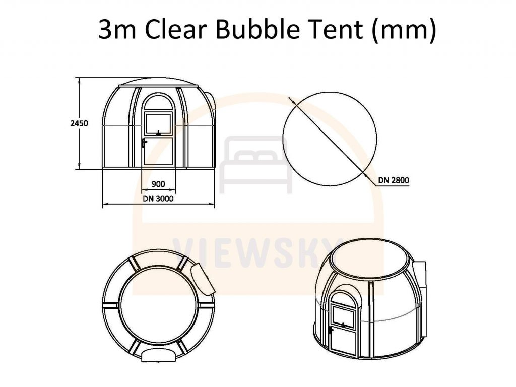 UVPLASTIC clear bubble tent