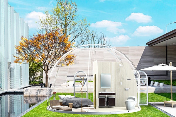 Family glamping dome
