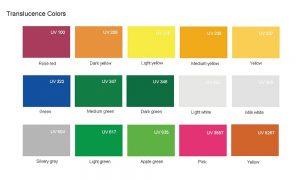 Translucence colors acrylic sheet