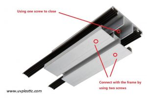 Jointer of solid polycarbonate sheet