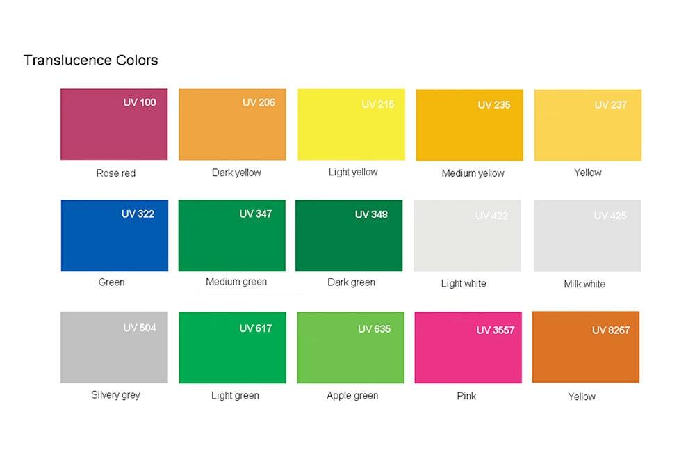 Plexiglass sheet with Translucence colors