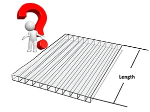 Length of polycarbonate facade sheet