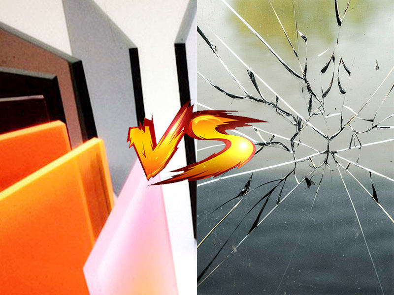 Acrylic sheet vs Glass
