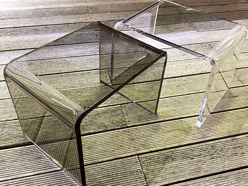 Gray Acrylic Chair