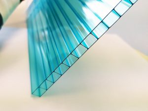 Blue double wall polycarbonate