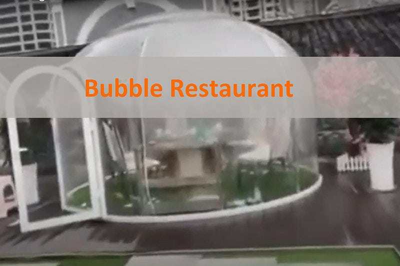 Bubble Dome dinner room