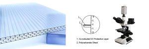 Honeycomb plastic sheet