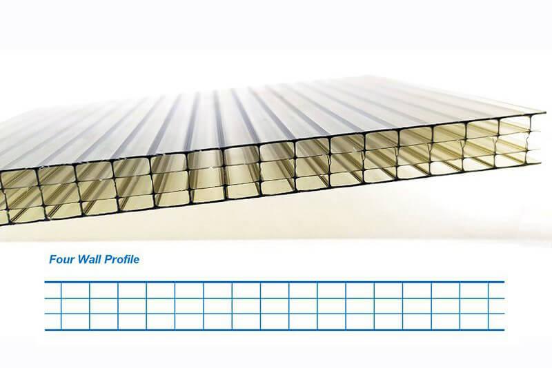 Four wall polycarbonate siding