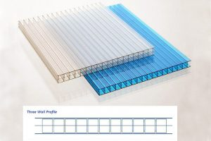 Three Wall Polycarbonate Siding
