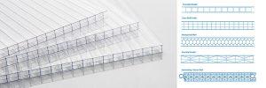 Three wall polycarbonate siding