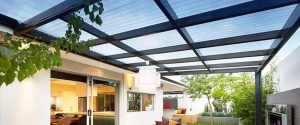 clear corrugated plastic for Patio