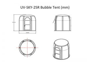 Drawing of bubble tent