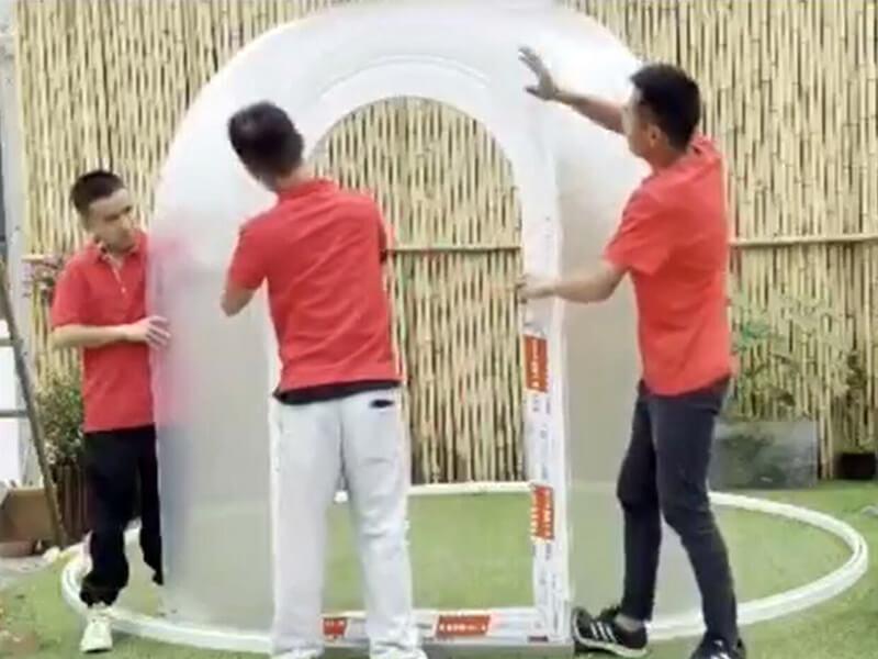 Building Bubble tent