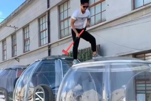 Testing bubble tent